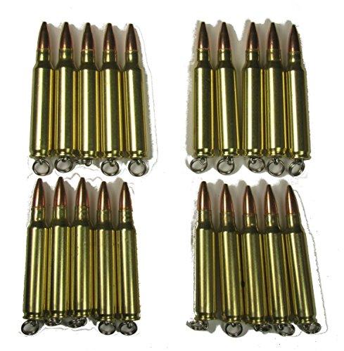 Bullet Pendants or Key Rings 223, Wholesale Lot of (20) Twenty, ()
