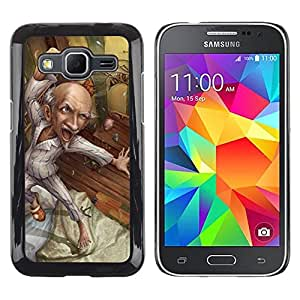 Be Good Phone Accessory // Dura Cáscara cubierta Protectora Caso Carcasa Funda de Protección para Samsung Galaxy Core Prime SM-G360 // Grandpa Drawing Healthy Art