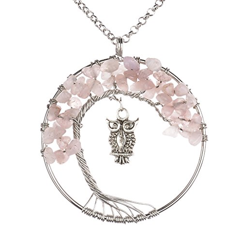 Pendent Necklace Gemstones Jewelry Mothers