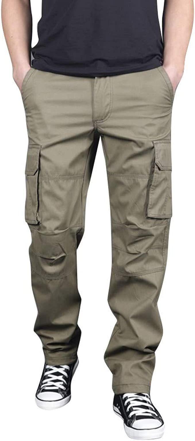 Men/'s Chic Slim Fit Military pocket work Casual Cargo Overalls Pants Trousers #