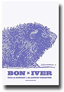 bon iver poster 11 x 17 concert promo blood bank tour justin vernon nutria. Black Bedroom Furniture Sets. Home Design Ideas
