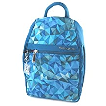 Backpack 'Hedgren'turquoise (triangles)- 32x24x9 cm (12.60''x9.45''x3.54'').