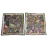 Mogul Sequin Cushion Cover Zari Embroidery Patchwork Pillow Cases Home Décor Idea