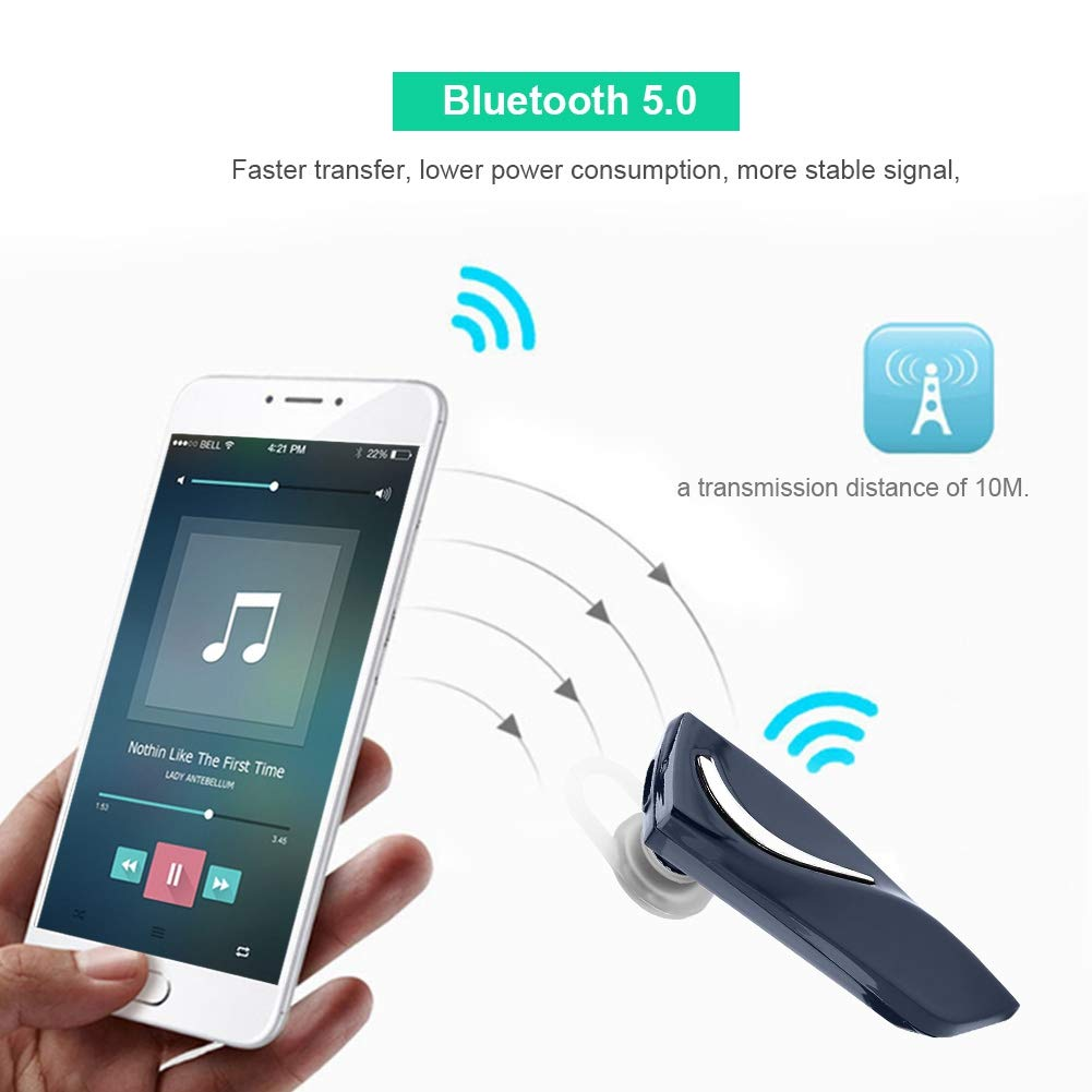 Wireless Translator in-Ear Headset for Learning Travelling Shopping Meeting Smart Language Translator Headphones Device Black VBESTLIFE Bluetooth Multi-Language Translation Earphone