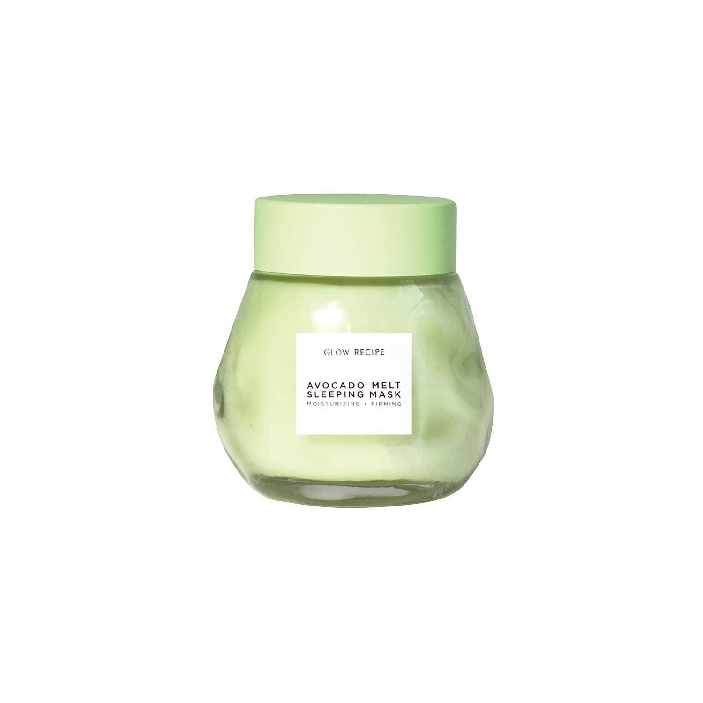 Amazon Com Glow Recipe Avocado Melt Overnight Face Mask Calming Rejuvenating Sleeping Mask With Manuka Honey Kaolin Clay Flawless Glowing Skin Face Mask For Dry Combination Skin 80ml 2 7oz Beauty
