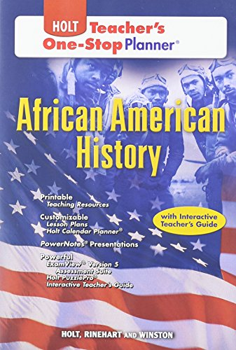 Search : Holt African American History Teacher's One Stop Planner