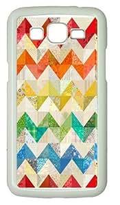 Chevron Rainbow Quilt Custom Samsung Grand 7106/Samsung Grand 2 Case Cover Polycarbonate White