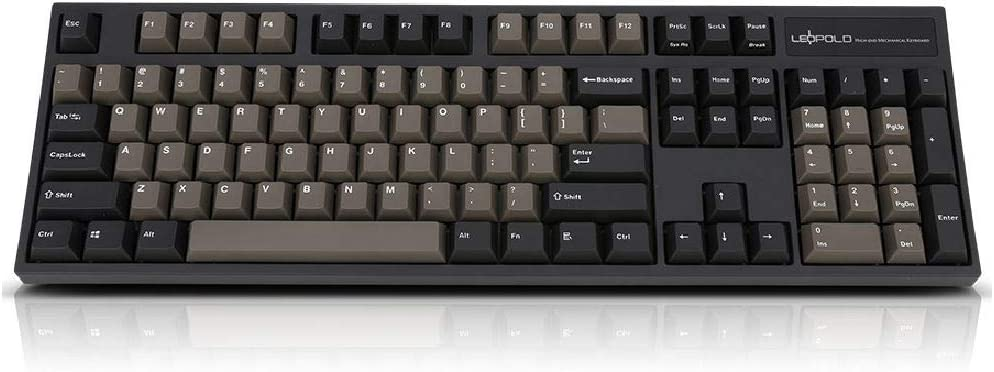Amazon.com: Leopold FC900R PD Graphite White Switches (Brown ...