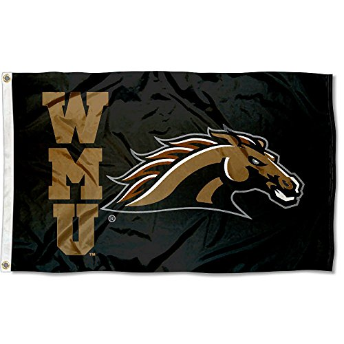 (Western Michigan Broncos WMU University Large College Flag )