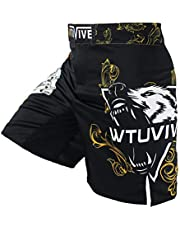 WTUVIVE MMA Shorts for Men Print Muay Thai Shorts Fight Training Boxing Trunks