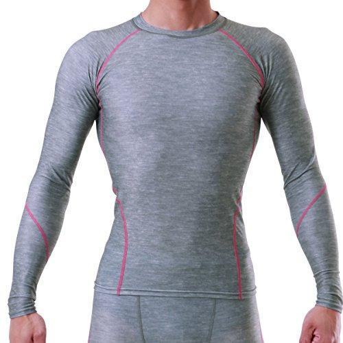 増加するそして素敵なPONTAPES(ポンタペス) 全7色 コンプレッションウェア シャツ 長袖 吸汗速乾 抗菌防臭加工 四季通年用 PCS-500