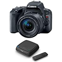 Canon EOS Rebel SL2 DSLR with EF-S 18-55mm f/4-5.6 IS STM Lens, Black - With Canon Connect Station CS100
