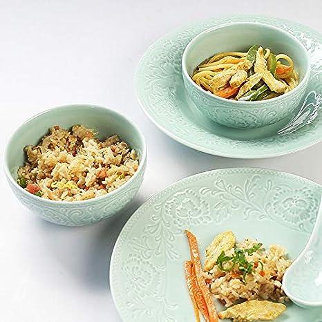 Liuwenan Cuencos de Cereal, Juego de vajilla de 6 Piezas, Sopa de ...