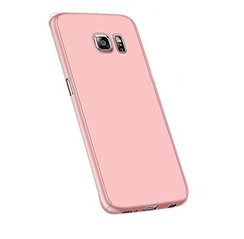 Vanki® Custodia Samsung Galaxy S6 Edge, 360 Gradi della copertura completa 2 in 1 Hard Stilosa PC Ca...