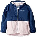 columbia lined rain jacket women - Columbia Little Girl's Rain-Zilla Jacket, Carbon, Whitened Pink, S