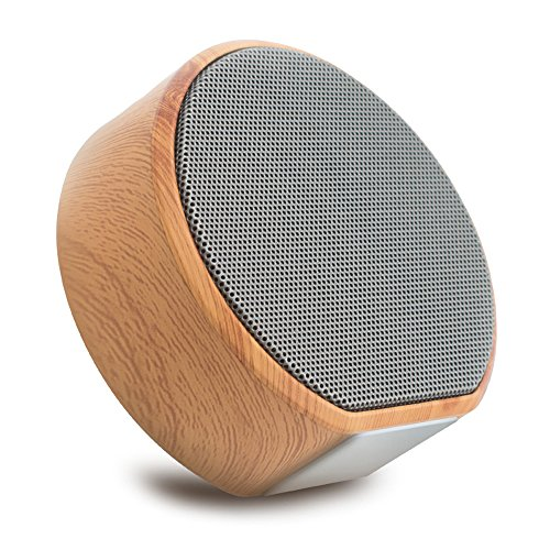 Bluetooth V4.1 Portable Wireless Speakers with FM Radio, Benefast Wooden Design HD Sound Speaker, Support TF Card, AUX Line, Handsfree Call, Super Bass, 8 Hour Playtime