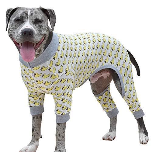 Tooth & Honey Big Dog Pajamas/one Piece/Lightweight Pajamas/Duck Print (X Large)]()