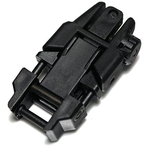 Airsoft Wargame Tactical Shooting Gear APS GG039B Rhino Auxiliary Flip Up Rear Sight Black by Airsoft Storm (Image #1)