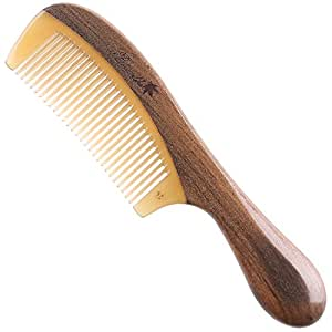 Amazon.com : Breezelike Wooden Hair Comb with Premium Gift Box - No