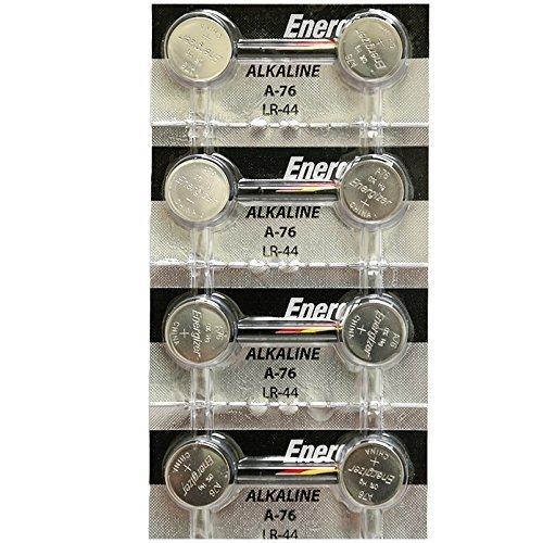 [ Strip of 8 ] Energizer A76/LR44 (A76BP), SR44, L1154, 1.5v Alkaline Batteries by Energizer