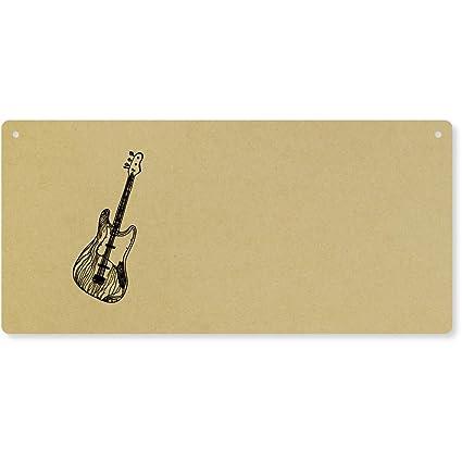 Azeeda Guitarra Eléctrica Grande Placa de Pared de Madera (DP00023166)