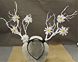 Christmas Fairy & Witch Tree Branches Antlers Headband Cosplay Party Butterfly Flower Headpiece Decoration Steampunk Vintage (2)
