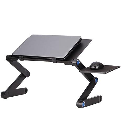 kuuboo plegable para ordenador portátil soporte de mesa escritorio bandeja con ratón Junta. Multifuncional mesa