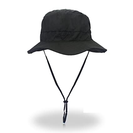 7c04b3438f2 FayTop Summer Sun Hat Boonie Hat Outdoor Cap Adjustable Fishing Hat Bucket  Hats Hiking Hat for