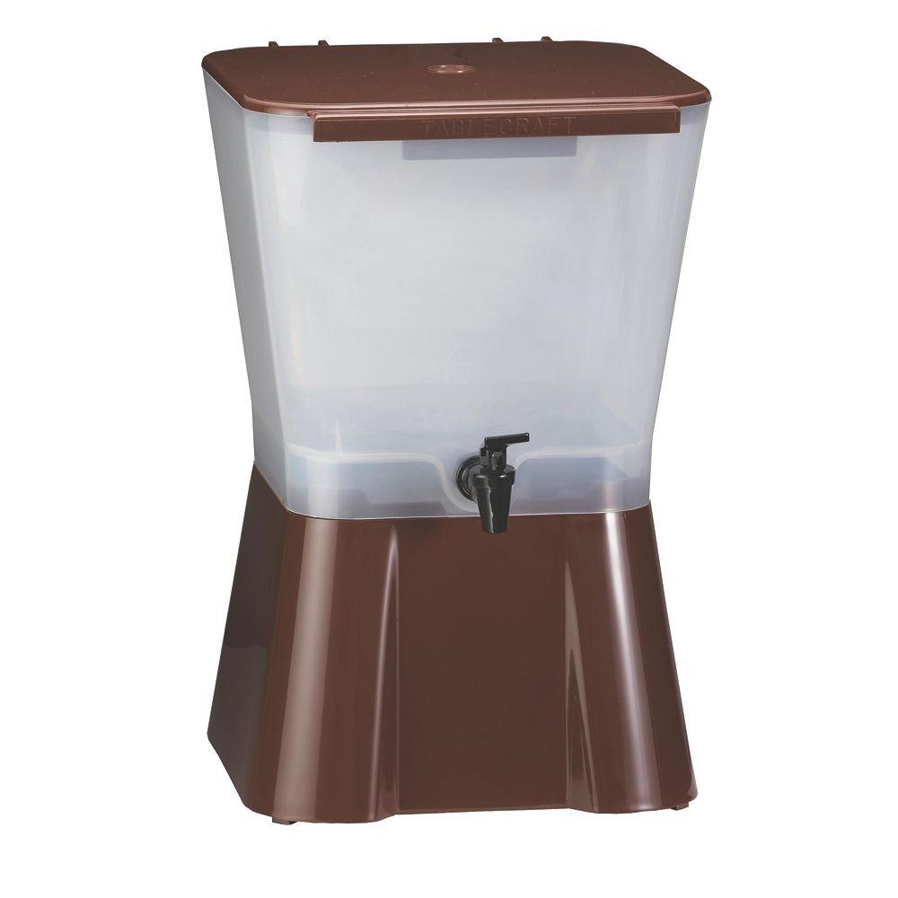 Tablecraft 3 Gallon Plastic Beverage Dispenser | Cold Drink Dispenser for Catering, Buffet or Restaurant Use