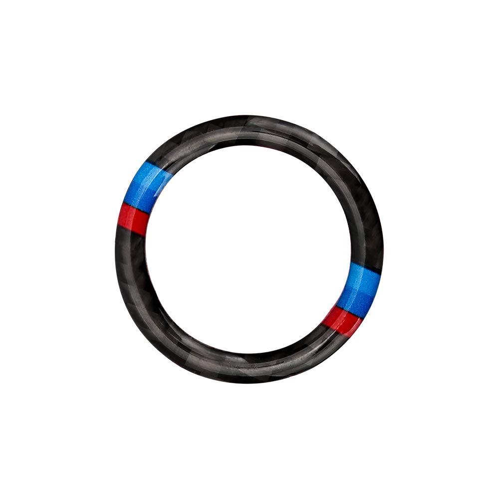 SENZEAL Auto Ring Aufkleber fü r B M W Zü ndschlü ssel Startknopfring Dekoration Hart