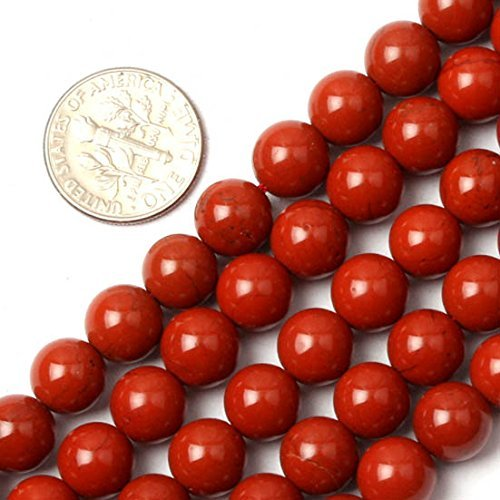 Red Jasper 8mm Round Beads (GEM-inside 8mm Round Red Jasper Beads Gemstone Gem Round Loose Beads Findings Accessories Strand 15 Inches)