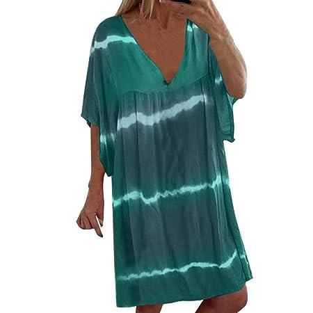 vestido playa mujer Tallas Grandes,Wave Camisolas y Pareos Mujer Vestidos de Playa Traje de Baño Cubrir Tapa de Blusa De Playa Bikini Cover Up