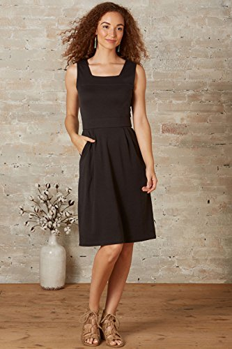 Fair Indigo Fair Trade Organic Sleeveless Square Neck Dress