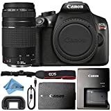 Canon EOS Rebel T6 18MP Digital SLR Camera Retail Packaging Bundle (Body & 75-300mm III) For Sale