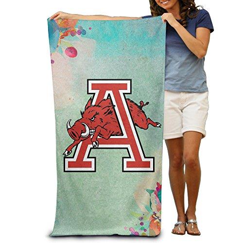 McBrL University Of Arkansas UARK UA Razorbacks A Logo Adult Vibrant Beach Or Pool Hooded Towel 32 X 51inches (Arkansas Razorbacks Santa Hat)