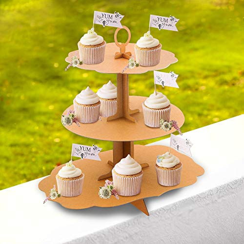 3-Tier Cardboard Cupcake Stand Holder (12.7