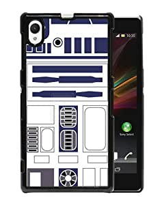 Beautiful And Unique Designed Case For Sony Xperia Z1 With R2D2 Minimalist black Phone Case