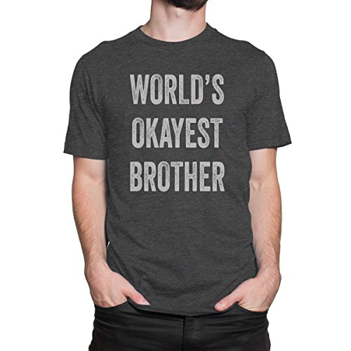 Price comparison product image WORLD's OKAYEST BROTHER Men's PRINT HAUS T-shirt (SMALL)