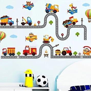 Großhandel Cartoon Autos Kinderzimmer Wandaufkleber Für Kinderzimmer Jungen  Schlafzimmer Wandtattoo Fenster Poster 3D Auto Aufkleber Tapete Von Xuol,  ...