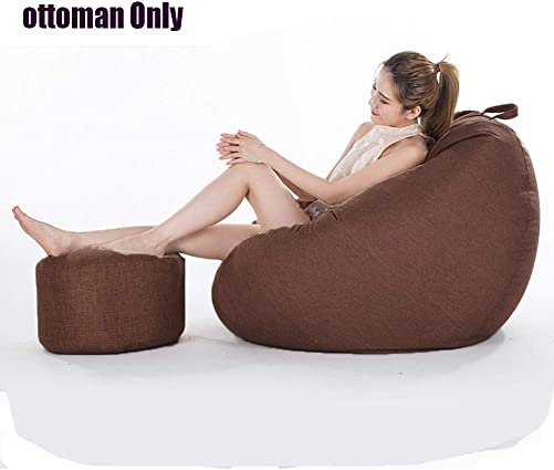 Longma Bean Bag Chair,Extra Soft Lazy Sofa Beanbag Seat Chair for Kids Adults Memory Foam Bean Bag Sofa Furniture Couch Beanbag with Natural Removable Cotton Linen Cover Particle Filling