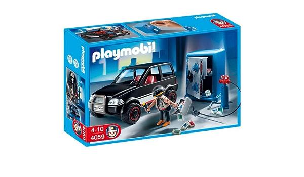PLAYMOBIL 4059 - Coche y ladrón de caja fuerte: Amazon.es: Juguetes y juegos