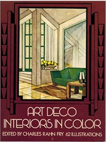 art deco interiors in color charles rahn fry 9780486235271 amazon