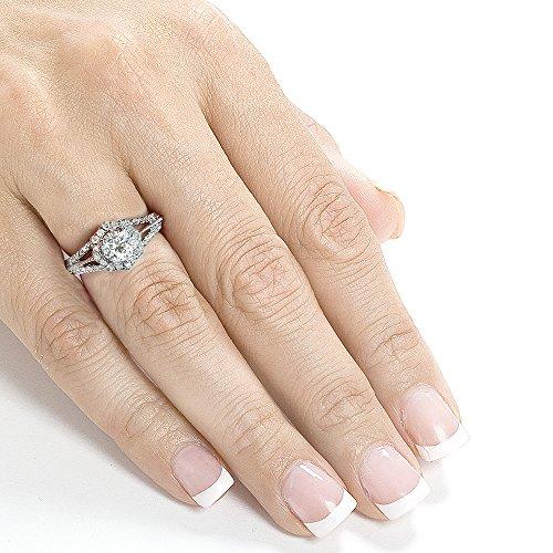 Vintage Diamond Engagement Ring 7/8 CTW in 14k White Gold