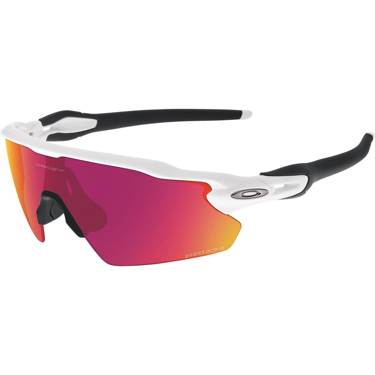 Oakley Men's OO9211 Radar EV Pitch Shield Sunglasses, Polished White/Prizm Field, 38 mm by Oakley
