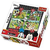 Puzzle 4w1 Myszka Miki Zabawy w parku