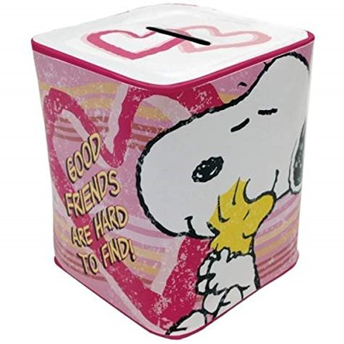 WL SS-WL-24427, 3.75 Inch Good Friends are Hard to Find Heart Shaped Tin Money Bank 3.75