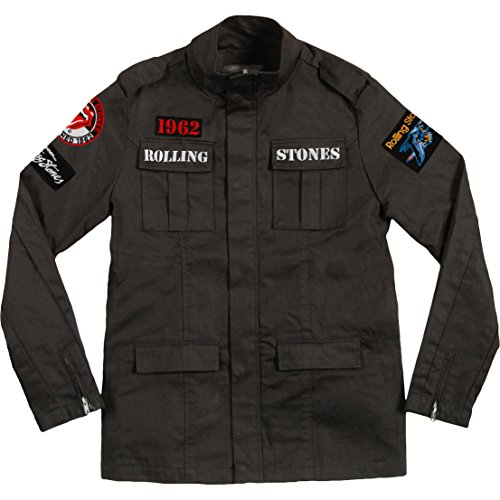 Rolling Stones Adult Military Jacket - Black (Large) by Rolling Stones