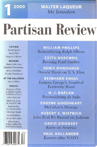 Partisan Review: Volume LXVII, Number 1 (Winter 2000)