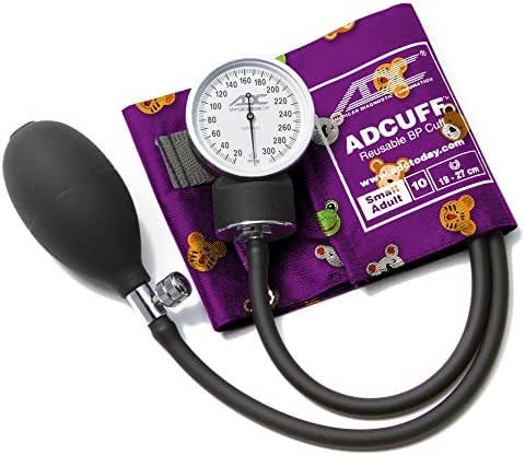 ADC Prosphyg 760 Pocket Aneroid Sphygmomanometer with Adcuff Nylon Blood Pressure Cuff, Adult, Black