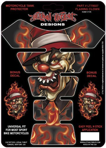 Lethal Threat LT70027 Tank Pad (Flaming Clown), 1 Pack by Lethal Threat Designs